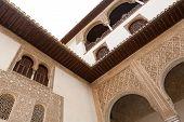 Detailed Architecture Of The Alhambra Palace In Granada