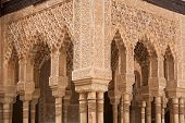 Patio Of The Lions Columns From The Alhambra Palace