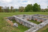 Ruins of Abusina (Abusena), a Roman castra (military outpost) on the Limes Germanicus frontier at Da poster