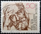 GERMANY - CIRCA 1978: stamp printed in Germany shows portrait Martin Buber circa 1978.