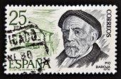 SPAIN - CIRCA 1978: A stamp printed in Spain shows Pio Baroja circa 1978