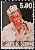 TAJIKISTAN - CIRCA 2000: A stamp printed in Tajikistan shows Frank Sinatra circa 2000