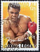 AUSTRIA - CIRCA 2006: Un sello impreso en espectáculos de austria Muhammad Ali circa 2006