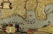 Antique Map Of  The Battle Of Cadiz, 1701 In Spain