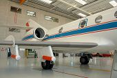 Business Aircraft In A Aircraft Hangar