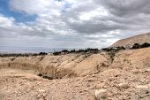 image of jericho  - Landscape of jericho and judean desert in israel