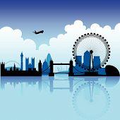 Постер, плакат: Лондон голубой