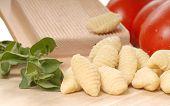 Freshly Made Gnocchi Using A Gnocchi Board