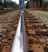 Teen On Rail
