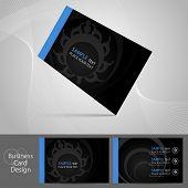 Stylish dark business card template, vector