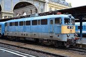 image of gare  - A diesel electric locomotive parked at Budapest Gare  - JPG