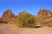Red rock mountains near Havasu city