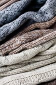 Texture Of Warm Knitted Sweaters