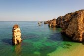Dona Ana beach at Lagos, Algarve, Portugal