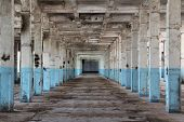 stock photo of derelict  - interior of an abandoned