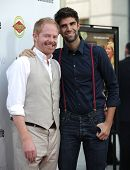 LOS ANGELES - AUG 23:  Jesse Tyler Ferguson & Boyfriend