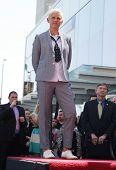 LOS ANGELES - AUG 03:  Ellen Degeneres arriving to Walk of Fame - ELLEN DEGENERES  on August 03, 2012 in Hollywood, CA