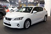 VALENCIA, SPAIN - DECEMBER 7 - A 2012 Lexus CT 200h compact luxury hybrid hatchback at the Valencia