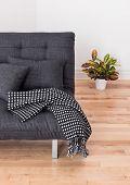 stock photo of futon  - Living room detail - JPG