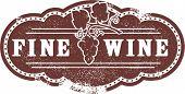 Excelente lista de vinhos Vintage carimbo