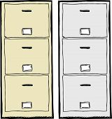 Filing Cabinet Illustration