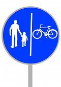 image of a road sign bikeways