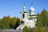 The Temple ??????? The Mostholy Mother Of God In Kovdor. Russia. Murmansk Region