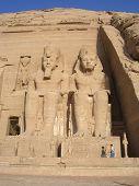 foto of aswan dam  - Statues at Abu Simbel Temple in Egypt - JPG