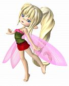 picture of faerie  - Cute toon fairy girl with blonde hair - JPG