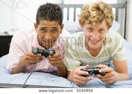 poster of Teenage Boys Playing Video Games