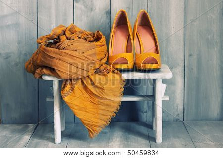 Постер, плакат: Обувь, холст на подрамнике