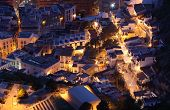 Aerial View Of  Alicante At Night