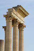 foto of urbanisation  - fragments of roman columns at the former roman urbanisation of Xanten - JPG