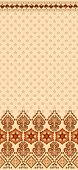 image of bordure  - wide bordure in brown shades on a light background with beige flowers - JPG