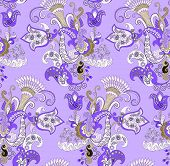 lilac pattern with  bells