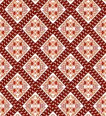 diamond-shaped pattern in the Gothic style