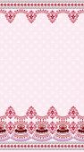 light pink vintage card with a wide border
