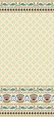 seamless pattern on a beige background with a wide border