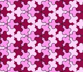 Abstract seamless pattern in pink tones