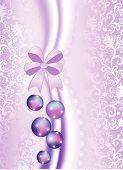 Christmas balls on the purple vintage background