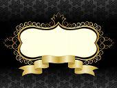 Figured Golden Frame With Ribbon