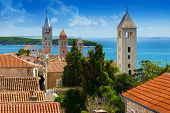 Beautiful cityscape of Croatia the city of Rab