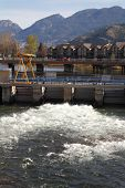 Okanagan Falls, Flood Gate, British Columbia, vertical