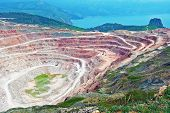 pic of open-pit mine  - Open pit mine in Balaklava near Sevastopol city - JPG