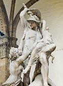 The Rape Of Polyxena Sculpture In Loggia Della Signoria. Florenc