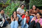 A group of Hispanic students