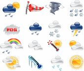 picture of hot-weather  - A high quality icon set relating to weather and weather forecasting - JPG