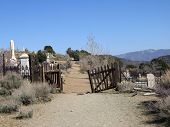 Entrance To An Old West Cemetary