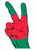 Peace Sign of the Bangladeshi flag