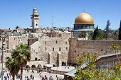 stock photo of synagogue  - The wailing wall of Jerusalem - JPG